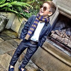 Alonso Mateo - cute outfit for HRC Fashion Kids, Fashion Clothes, Style Fashion, Girl Fashion, Womens Fashion, Moda Kids, Kid Swag, Baby Swag, Little Fashionista