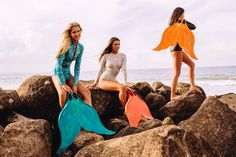 As Bikini girls, we dream of days spent gliding through the waves. Introducing the Mahina MerFin—the first functional mermaid tail to hit the market. Mermaid Fin, Mermaid Bikini, Mermaid Tails, The Bikini, Bikini Beach, Bikini Girls, Mako Mermaids Tails, Mermaid Photos