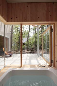 Villa in Hakuba / Naka Architects #JapaneseStyle #bathroom