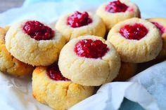 Raspberry Thumbprint Cookies by MyNutriCounter