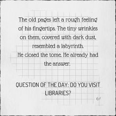Question Of The Day, This Or That Questions, Local Library, My Childhood, Old Things, Author, Explore, Feelings, Fall