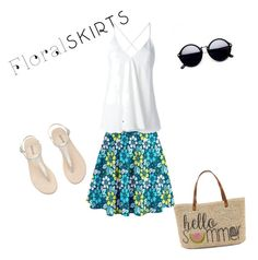 """""""Untitled #65"""" by wendy-ch on Polyvore featuring Dondup, Straw Studios and Floralskirts"""