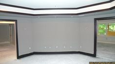 TC's Simple Home Theater Build - Page 3 - Home Theater Forum and Systems - building Home Theater Rooms, Home Theater Design, Dream House Plans, My Dream Home, Black Trim Interior, Dining Room Wainscoting, Interior House Colors, Interior Ideas, Grey Paint Colors