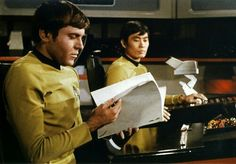 Walter Koenig and George Takei