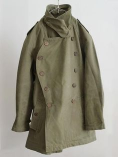 1940's french military motorcycle coat | Khaki | Army green | by angelita