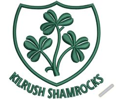 kilrush shamrocks logo embroidery designs