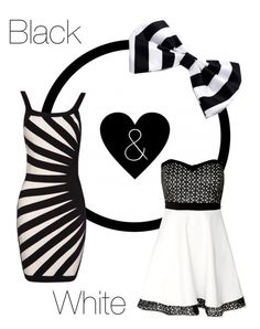 """""""Black & White"""" by jessica-skye-1 ❤ liked on Polyvore"""