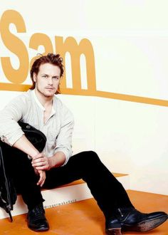 A very handsome Mr Heughan.