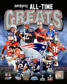 New England Patriots Super Bowl Champs All Time Greats Photo TU135 (Select Size) in Sports Mem, Cards & Fan Shop, Fan Apparel & Souvenirs, Football-NFL | eBay