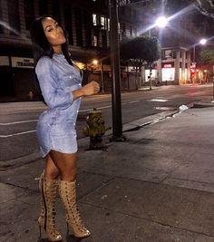 Casual girl night out or night with bae XOXO Fashion Casual, Black Women Fashion, Look Fashion, Urban Fashion, Autumn Fashion, Fashion Outfits, Womens Fashion, Fashion Trends, Fashion 2017