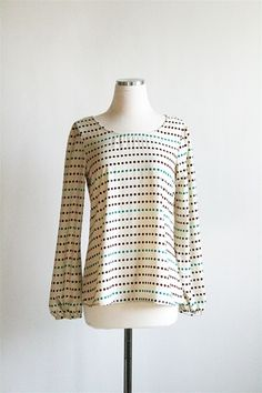 Falling For Dots Top - Ivory