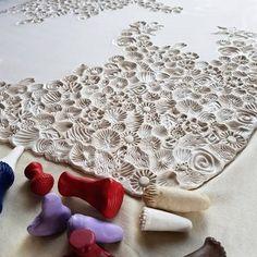 You can never have too much texture! Most of the stamps I make myself but there is also a lovely selection included here from the wonderful @charityhofert . ~~~~~~~~ . #porcelain #ceramics #etsy #texture #irishceramics #ceramicart #craft #craftsposure #handcraft #makersgonnamake #makersmovement #handmadewithlove #handmadeisbetter #visualart #artlife #artistlife #dailyart #artstagram #artshub #artistsoninstagram #homedecor #mycreativebiz #potsinaction #contemporar...