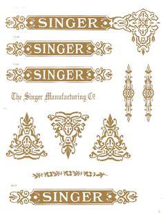 Singer 15 Restoration Decals