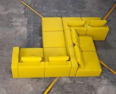 // Pinned by Ellen Rus. Modular Furniture, Modular Sofa, Lounge Furniture, Custom Furniture, Living Room Furniture, Living Room Decor, Sofa Bench, Lounge Sofa, Sofa Set