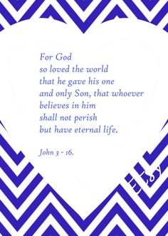 John 3 16 For God so loved the world by HappyThoughtsToPrint, $5.00