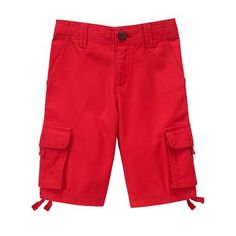 Boys True Red Cargo Shorts by Gymboree
