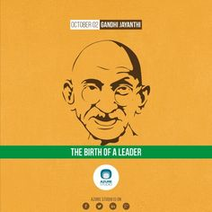Creative Design for the birth anniversary of Gandhi, 2014.
