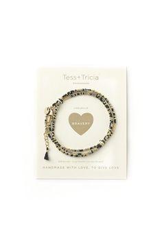"""""""Bravery"""" Little Lovelies Triple Wrap Bracelet"""