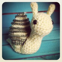 Yellow and Green Snail Doll. $12.00, via Etsy.
