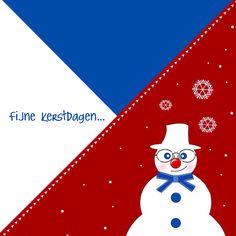 Kerstkaart CliniClowns rwb 2a, verkrijgbaar bij #kaartje2go voor €1,89