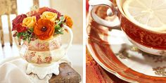 Vintage Dish Rental - vintage dish - blog - autumn tea party - keep it light, usewhite