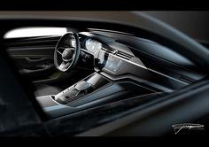 Volkwagen C Coupé GTE concept @ Auto Shangai 2015. Gregor Duler's interior rendering.