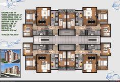 Residential Building Plan, Building Plans, Building Design, Condominium Architecture, Architecture Design, Social Housing Architecture, Hotel Floor Plan, House Floor Plans, The Plan