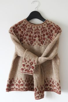 Fair Isle Knitting Patterns, Sweater Knitting Patterns, Knit Patterns, Hand Knitting, Fair Isle Pattern, Icelandic Sweaters, Crochet Basics, Knitting Projects, Pulls