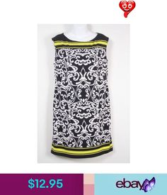Dresses Jessica Howard Dress Black White Yellow Sleeveless Womens #ebay #Fashion<br> Yellow And White Dress, Dress Black, Black And White, Jessica Black, Ebay Clothing, Blouse, Clothes, Tops, Dresses