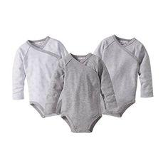 BORNINO 3er-Pack Wickelbodys langarm Baby, Größe 50/56, grau Raglan, Baby Boy Outfits, Bodysuit, Rompers, Boys, Image, Clothes, Fashion, Cotton
