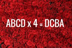 Can you find the numbers ABCD so that the following calculation is proved? (ABCD x 4 = DCBA)