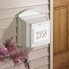 Whitehall Personalized Wall Mount Mailbox - Mailboxes at Hayneedle