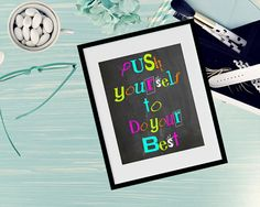 Motivational wall print-Chalkboard inspirational by Thequirkyimage