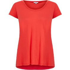 Splendid Red Jersey T-Shirt ($37) ❤ liked on Polyvore featuring tops, t-shirts, shirts, red, jersey t shirts, jersey tee, scoop neck t shirt, jersey shirts and red jersey
