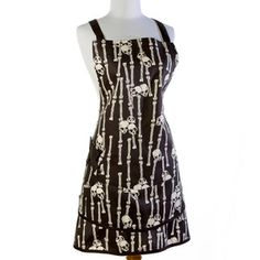 Voodoo Bones Kitchen Apron now featured on Fab.