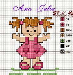 Cross Stitch For Kids, Cross Stitch Baby, Cross Stitch Charts, Cross Stitch Embroidery, Cross Stitch Patterns, Counting For Kids, Plastic Canvas Patterns, Diy Projects To Try, Hama Beads