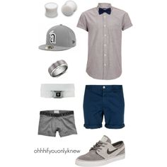Untitled #130 by ohhhifyouonlyknew on Polyvore featuring NIKE, Topman, American Eagle Outfitters, Blue Nile, bow tie, awesome, my style, clothes, lgbt and tomboy