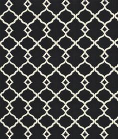 Waverly Chippendale Sun N Shade Fretwork Onyx Fabric (onlinefabricstore) Gingham Fabric, Black Fabric, Bright Pillows, Premier Prints, Gorgeous Fabrics, Textile Patterns, Textiles, Felt Fabric, Drapery Fabric