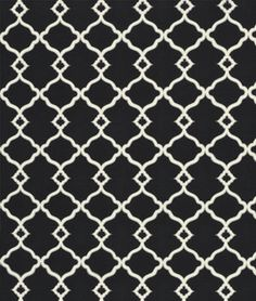 #wickedgoodfabric for my outdoor patio cushions. Waverly Chippendale Sun N Shade Fretwork Onyx Fabric