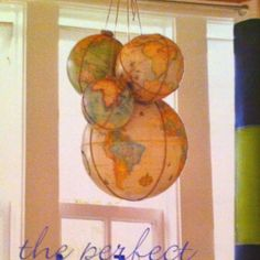 Hanging globes- pottery barn kids catalog