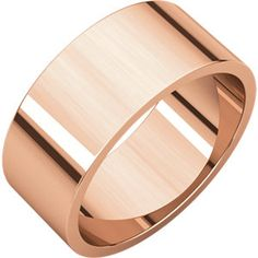 10kt Rose 8mm Flat Band