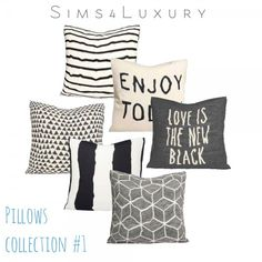 Sims4Luxury: Pillows collection 1 • Sims 4 Downloads