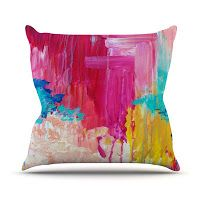 What I Love Wednesday: Painted Textiles for Pops of Color