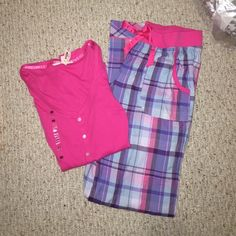 NEW Victoria's Secret pajamas NEW with flannel pants and matching pj top. Size xs Victoria's Secret Intimates & Sleepwear Pajamas