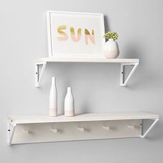 Weathered Shelving System #pbteen