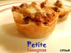 Fantastical Sharing of Recipes: Petite Lasagnas