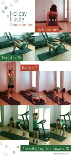 this is a workout that takes no time at all (if you push yourself!) AND you can do this anywhere! no equipment required, just you and your beautiful bod :) perform the following exercises in order ...