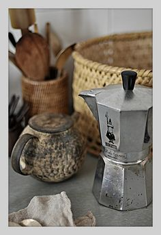 Moka pot. How I make my coffee.  I love the taste and the ritual.