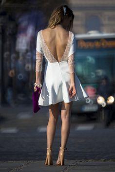 VD4A7181 copie   la mariee aux pieds nus Civil Wedding Dresses, Wedding Planer, Rehearsal Dinner Dresses, Pretty Dresses, Marie, Backless, Dress Up, White Dress, Wedding Inspiration