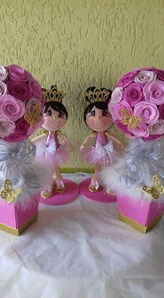 Fofuchas Ballerina Birthday Parties, Ballerina Party, 22nd Birthday, Quinceanera Invitations, Ideas Para Fiestas, Diy Crafts For Gifts, Centre Pieces, Birthday Decorations, Free Pattern